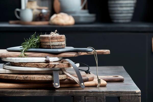 Handmade natural chopping boards