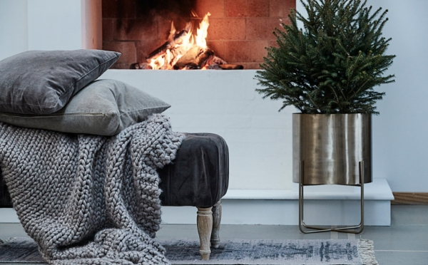 Cosy Christmas mood with cushions and furs