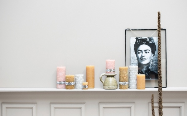 Candles with fine african inspired motives