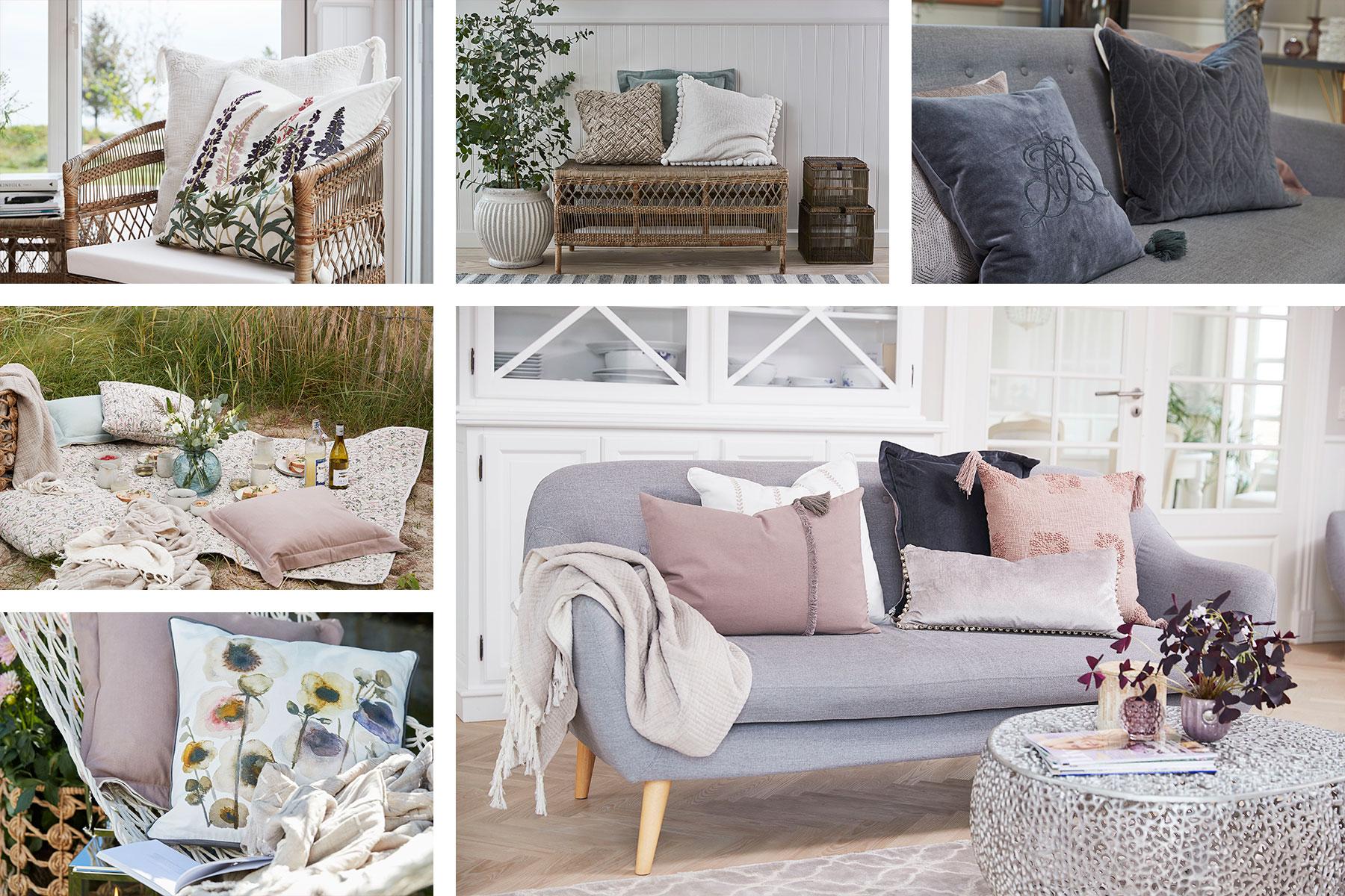 Scandinavian designed wholesale cushions from Lene Bjerre