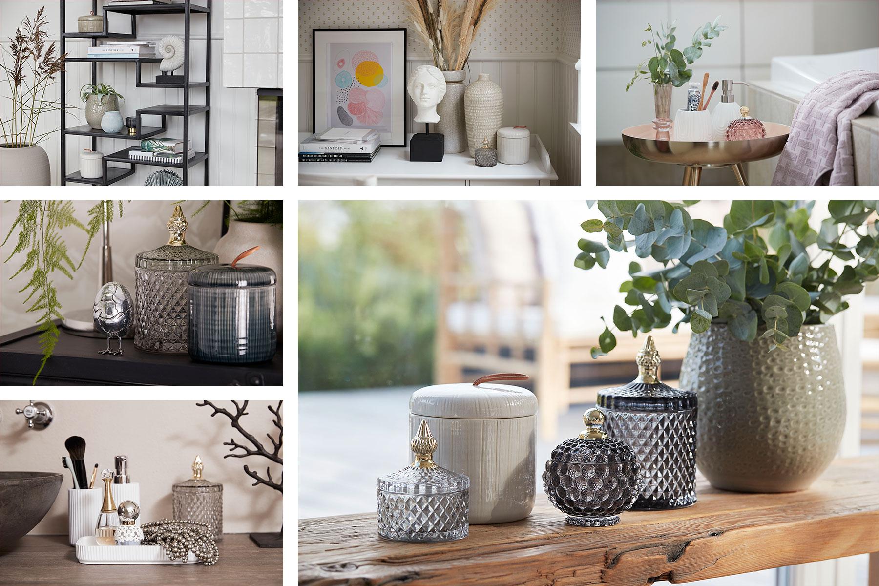 Glass and ceramic jars from scandinavian wholesaler Lene Bjerre