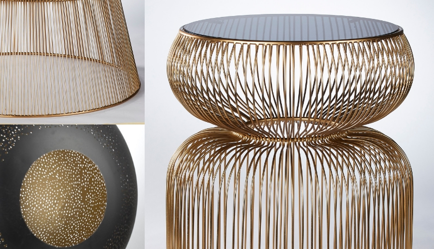 Furniture design with golden details