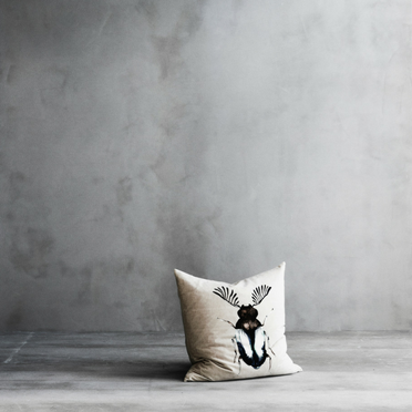 Birea cushion from Lene Bjerre with natural beetle print