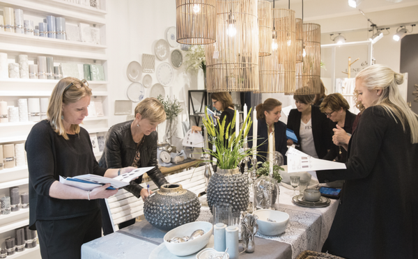 Presentation of new products in the Lene Bjerre Showroom