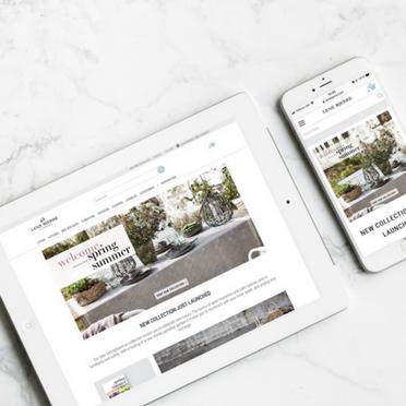 Lene Bjerre webshop design on smartphone and tablet