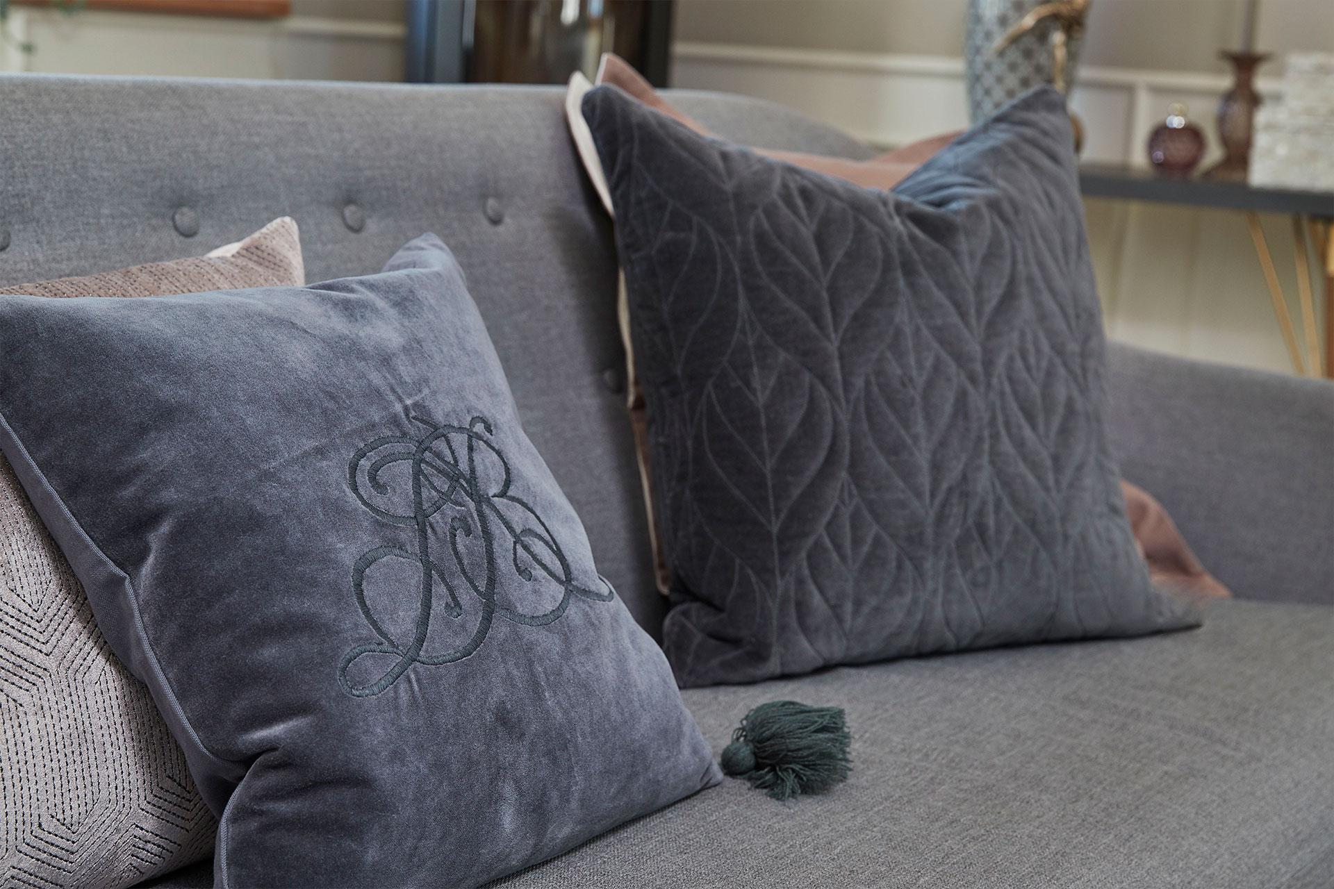 Velvet wholesale cushions from Lene Bjerre