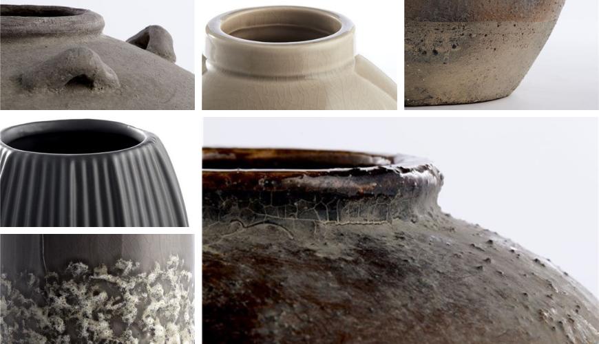 Ceramic vases with details