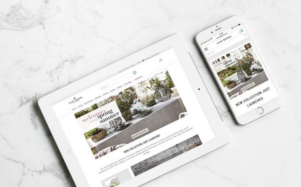 Lene Bjerre Webshop auf dem iPone ud iPad