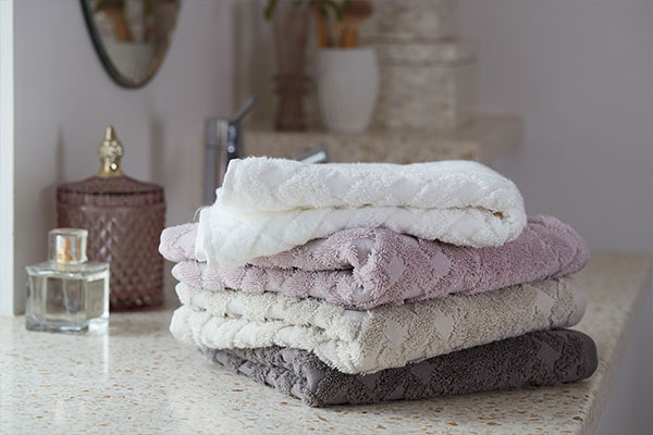 Soft OEKO-TEX® certified towels from bathroom decor wholesaler Lene Bjerre